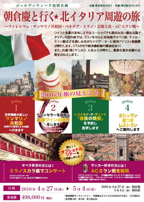 イタリア芸術と文化・魅惑の旅
